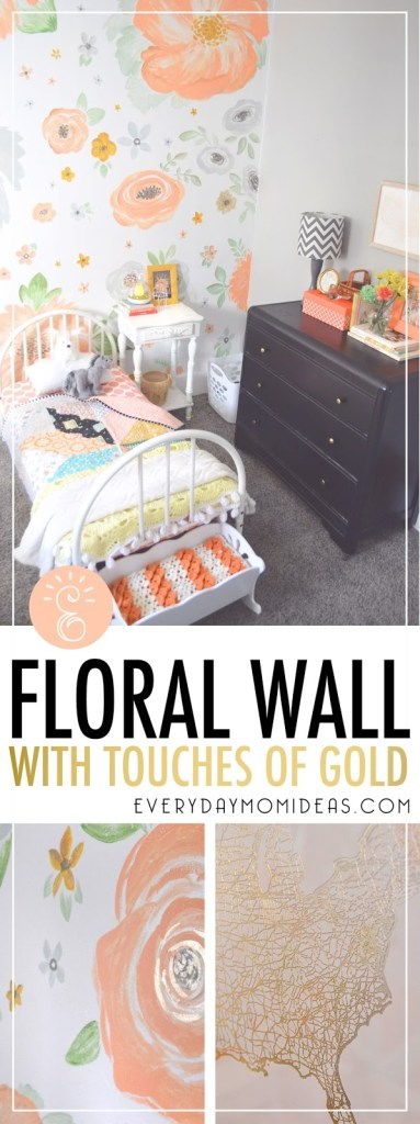 floral mural diy home decor