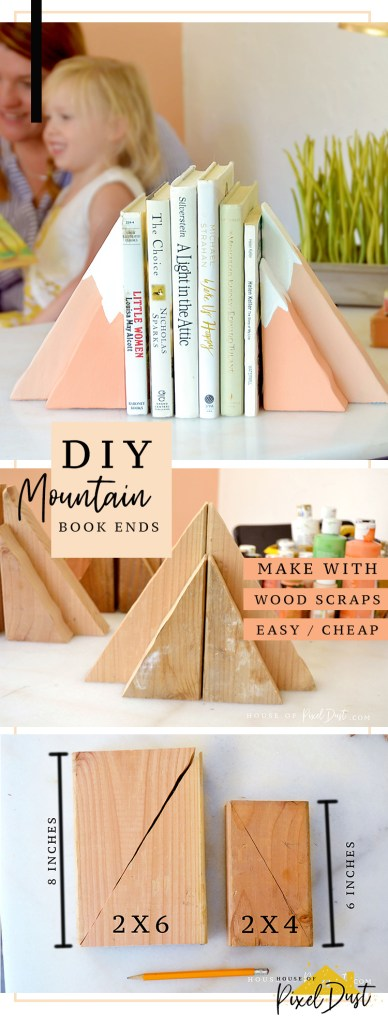 This image has an empty alt attribute; its file name is DIY-MOUNTAIN-BOOKENDS.jpg