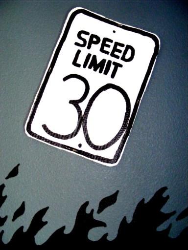 Speed limit Diy sign