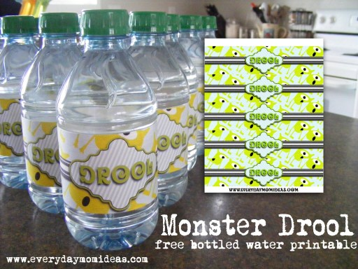 free monster drool printable
