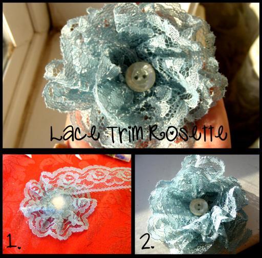 lace trim rosette tutorial