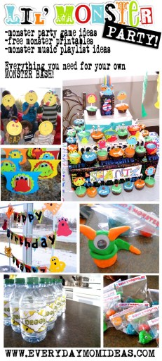 lil monster party ideas