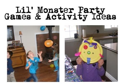monster party games and activities