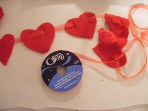 hearts on a ribbon