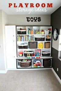 playroom storage ideas kids