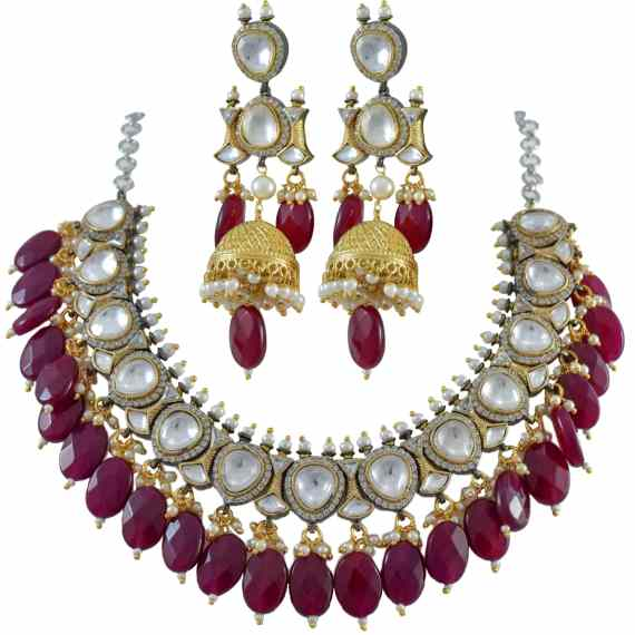 ANTIQUE KUNDAN WITH RUBY DROPS