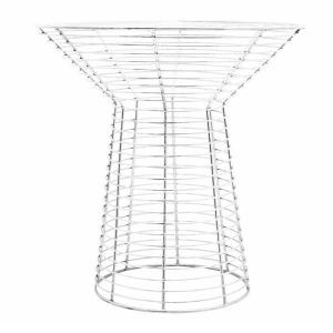 White Glass Top Wire Table | Side Tables