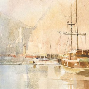 Croatia Watercolor | South African Painter: Paul Andrew