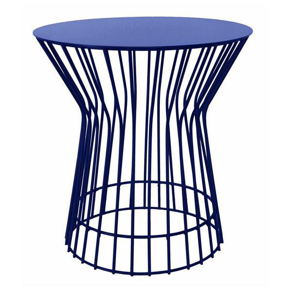 Blue Drum Wire Table | Modern Home Furniture