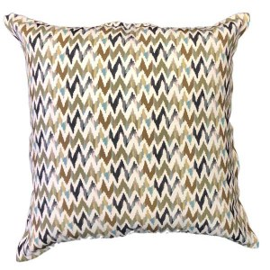 Blue Chevron cushion
