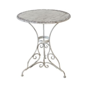 METAL DISTRESSED TIN TOP TABLE