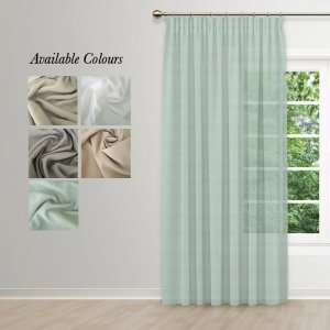 Aerial Taped Curtain (Unlined Sheer)
