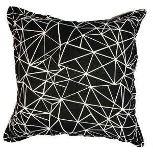 Static Black Scatter cushion