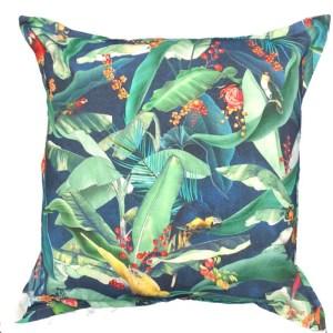 Indigo Macaw Scatter cushion