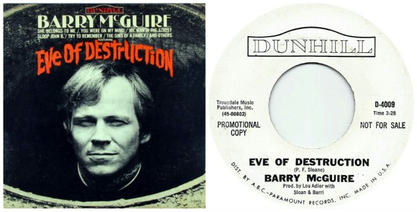 """#On This Day… September 26, 1965 • BARRY McGUIRE's Warning: """"Eve of Destruction"""" [AUDIO+VIDEO] /"""