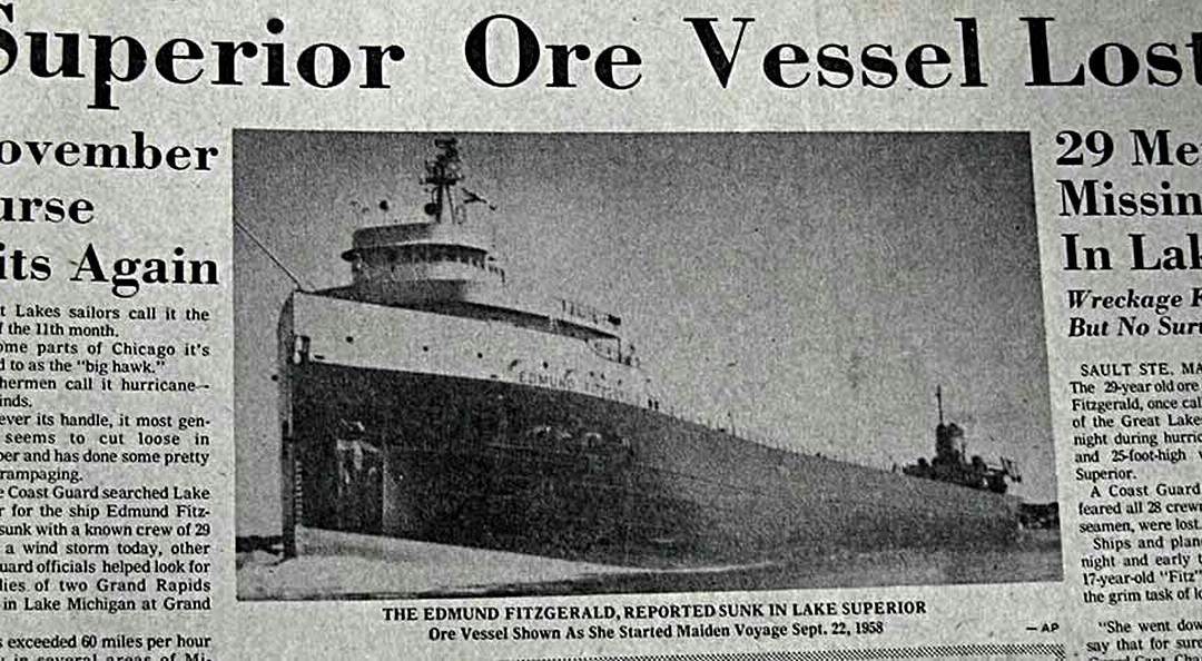 #Post • GORDON LIGHTOOT: 40th Anniversary of the 'Edmund Fitzgerald' Tragedy [AUDIO+VIDEO] /