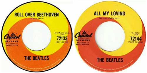 Beatles:45s:RollOverBeethoven&AllMyLoving:Combo