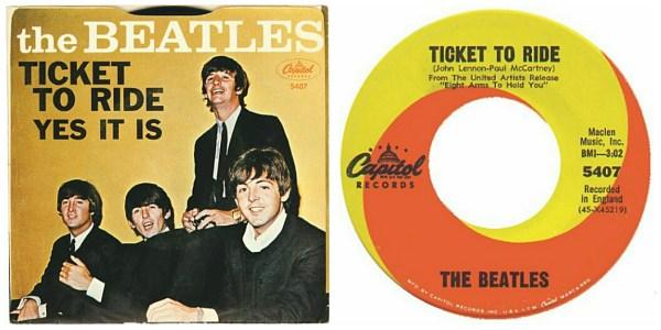 Beatles:45:TicketToRide:Combo