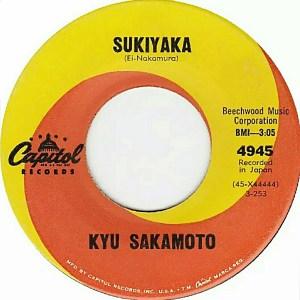 KyuSakamoto:45:Sukiyaka(sic):Label