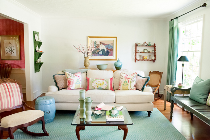 house of turquoise living room country colors guest blogger ingrid porter interiors this is the a client who when we met for our first meeting said it was important to pull in her favorite and pink