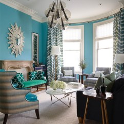 House Of Turquoise Living Room Curtain Designs For Small Massucco Warner Miller Interior Design
