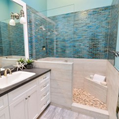 Beach Inspired Living Rooms Curtain Designs For Room Signature Kitchen Bath | House Of Turquoise