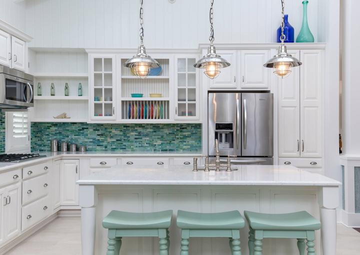 turquoise backsplash ideas house of