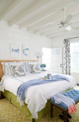 bedroom cottage beach bedrooms master coastal interiors casual leslie rylee rooms themed decorative arts maine houseofturquoise bunk turquoise decor cheerful
