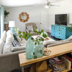 House Of Turquoise Living Room Rooms With Gray Walls The Shabby Creek Cottage