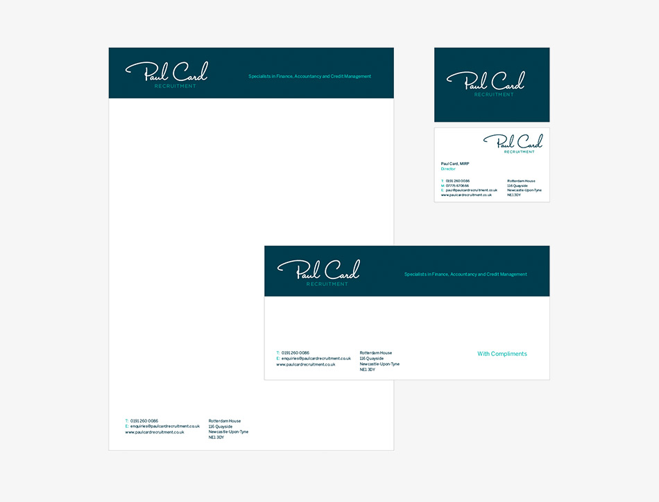 Paul Card Recruitment Stationery