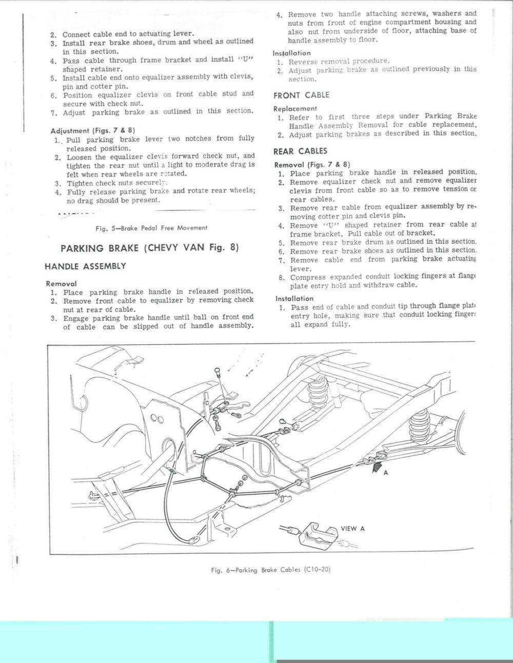 medium resolution of 1966 1972 chevy truck parking brake system