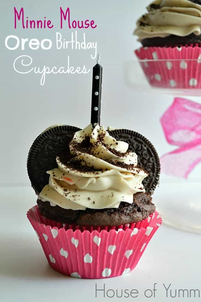 Minnie Mouse Oreo Birthday Cupcakes House Of Yumm