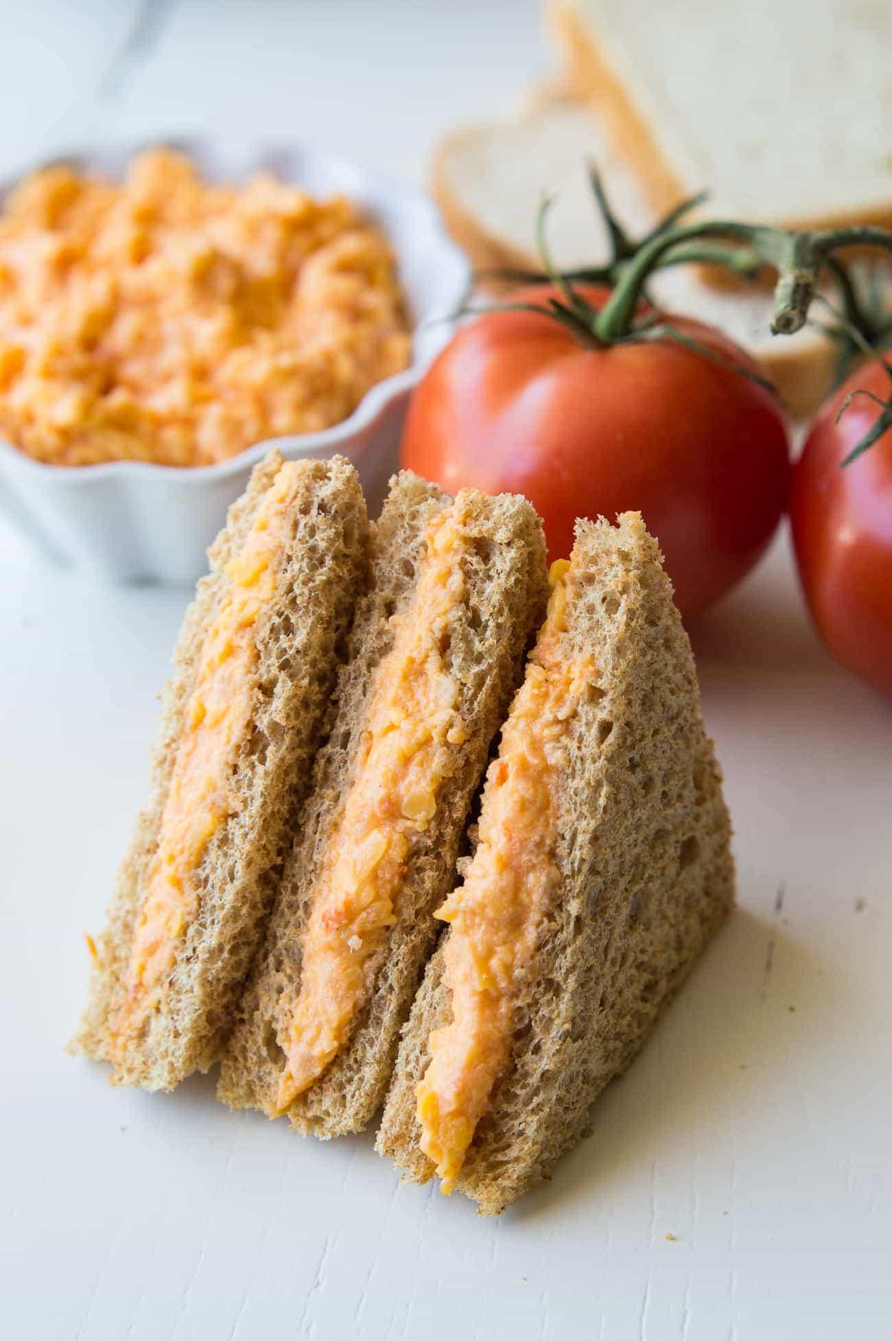 Tomato Twiddle Tea Party Sandwiches
