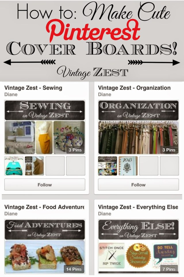 Vintage Zest how-to make Pinterest Board Covers