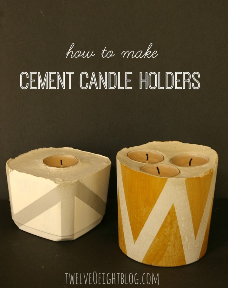 how-to-make-cement-candle-holders