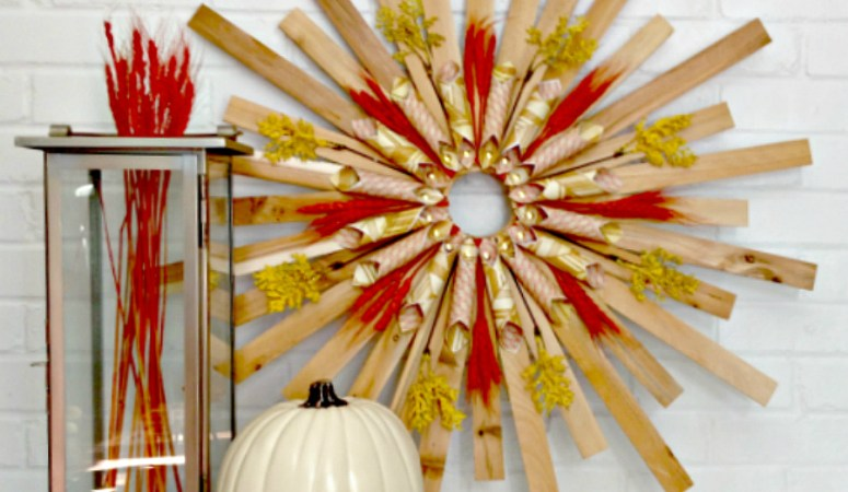DIY Fall Sunburst Wreath