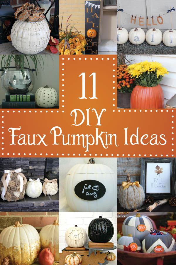 11 Easy, no carve Pumpkins!