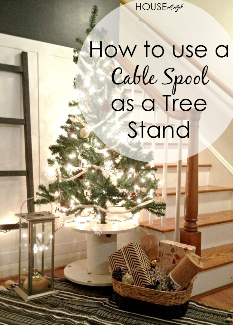 Cable Spool Christmas Tree Stand