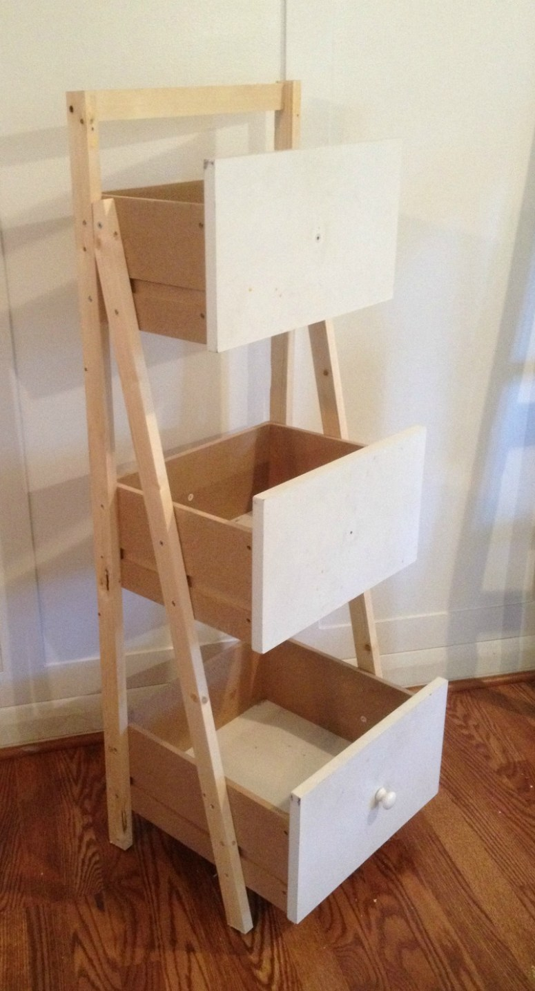 Ladder Shelf Organizer Monthly Diy Challenge Houseologie
