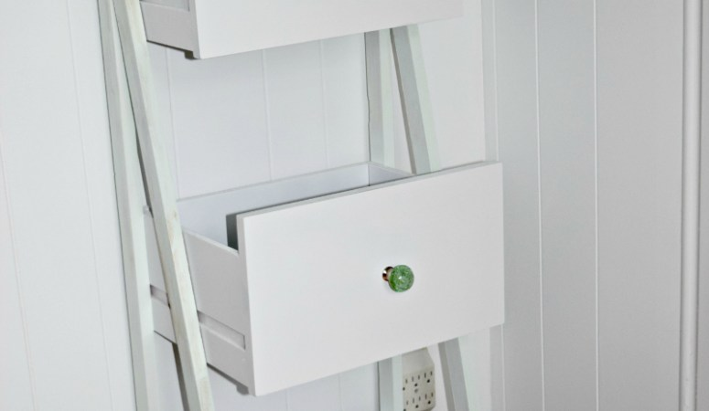 DIY Ladder Shelf Organizer