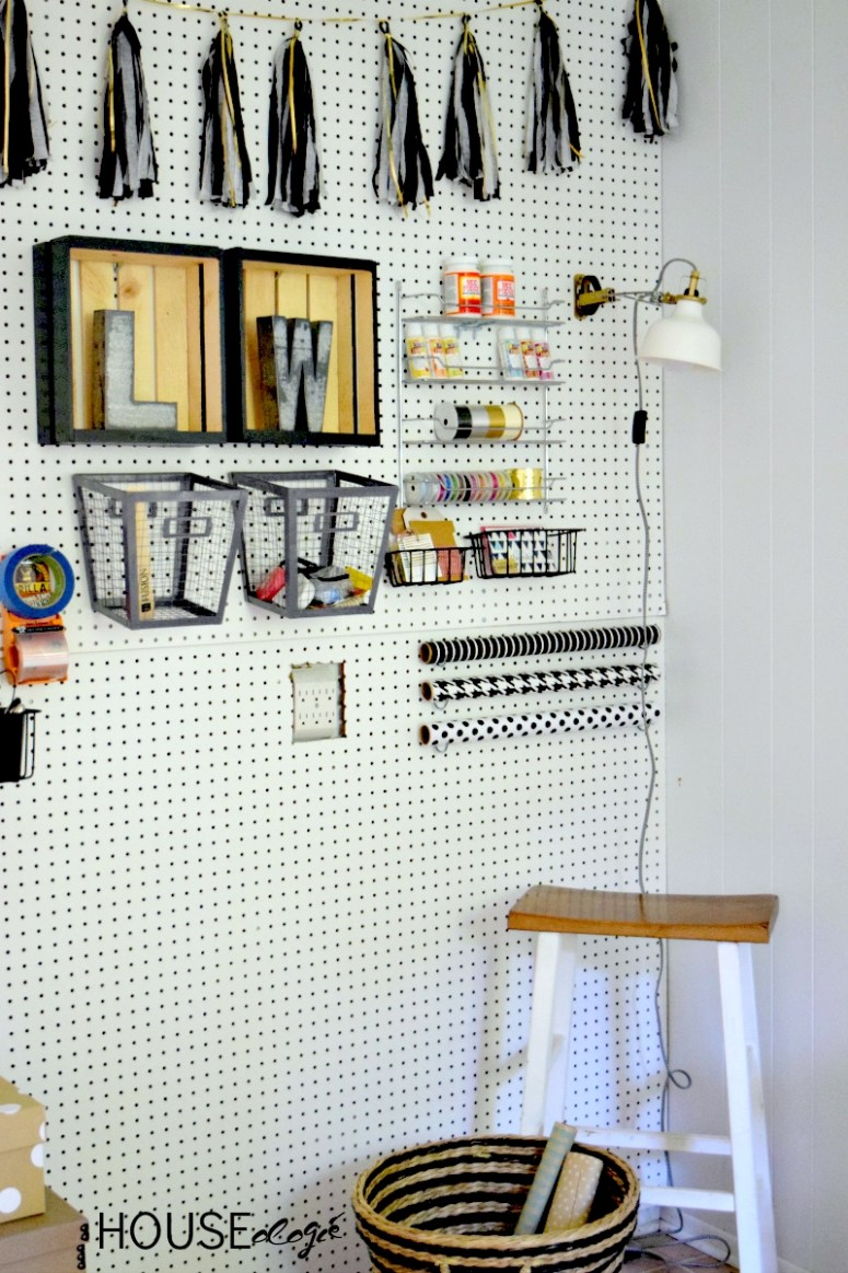 Craft Room Pegboard Organization 4