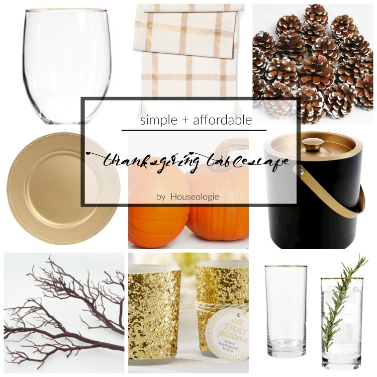 Thanksgiving Tablescape that is Simple + Affordable