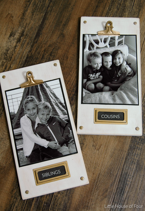 DIY Wood Photo Plaque