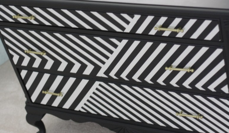 Super Fun Black + White DIY Dresser Makeover