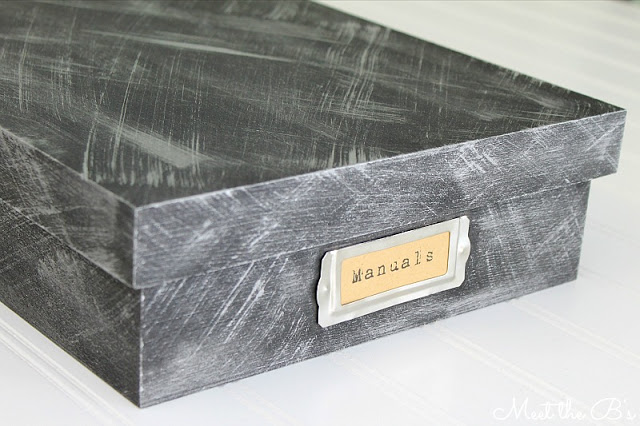 DIY faux metal aged wooden box
