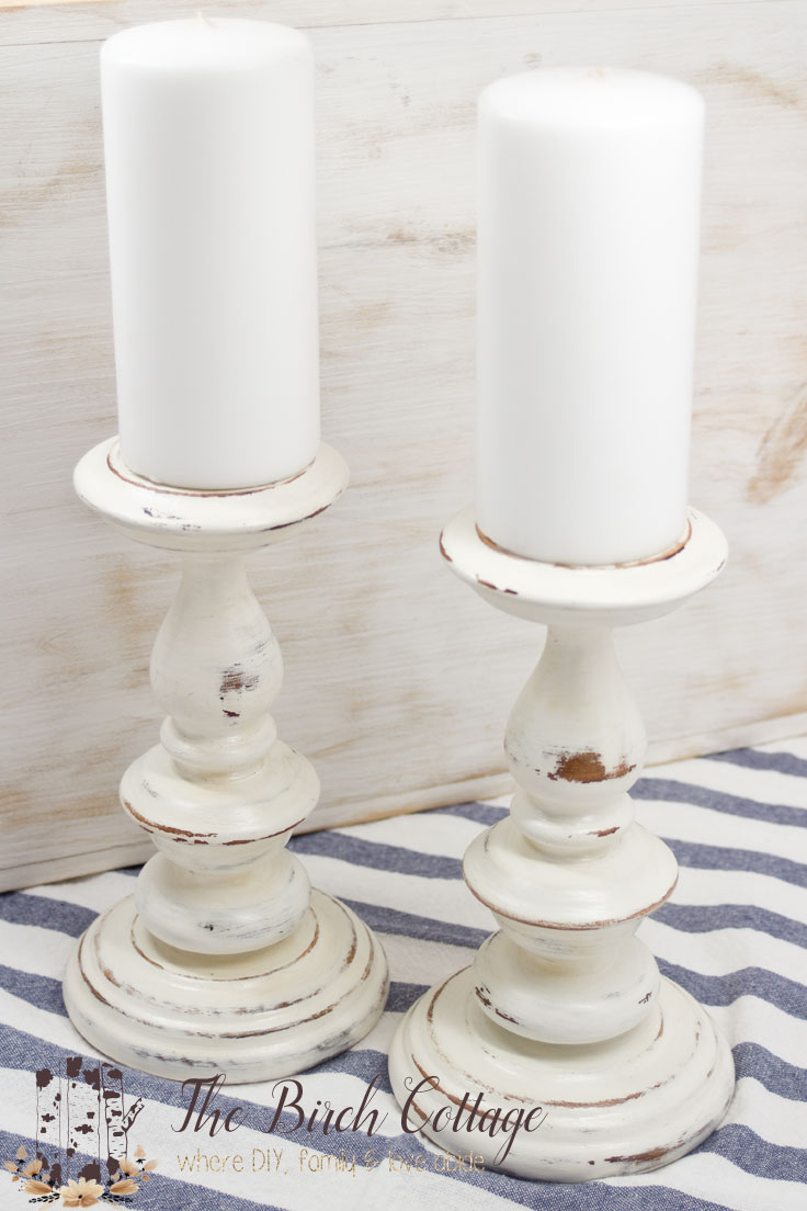 There's no better way to celebrate spring that by giving new life to old candlesticks with chalk paint!