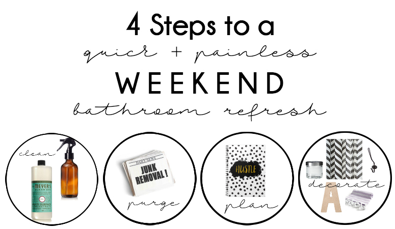 4 Steps to a quick + painless weekend Bathroom Refresh!
