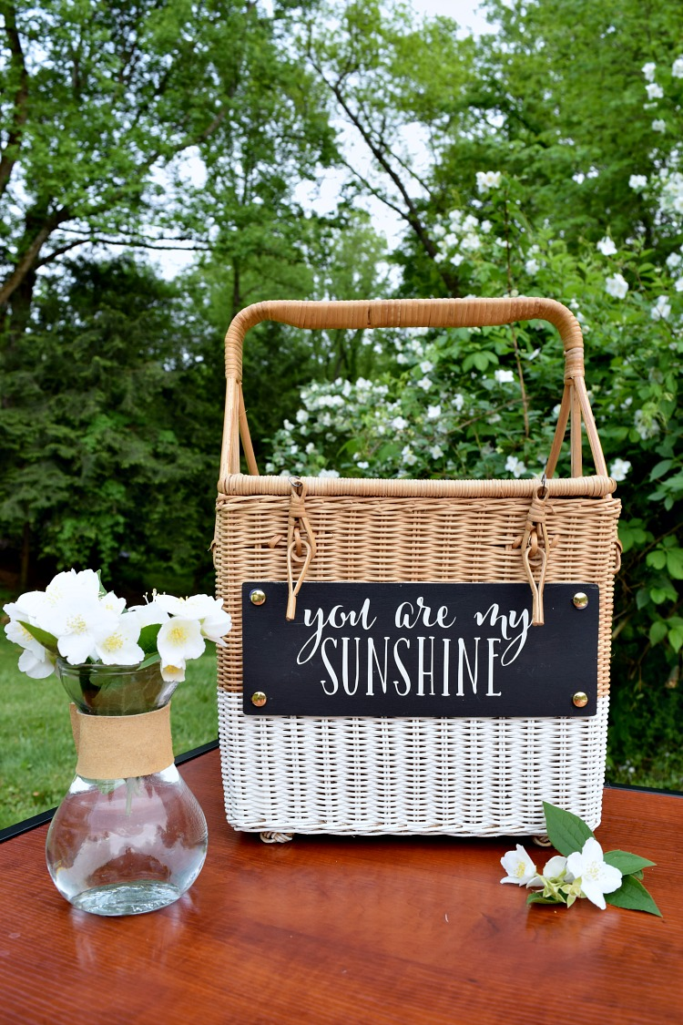 DIY Personalized Picnic Basket