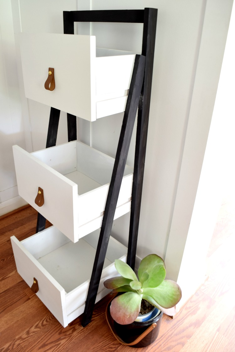 DIY Shelf from Old Drawers