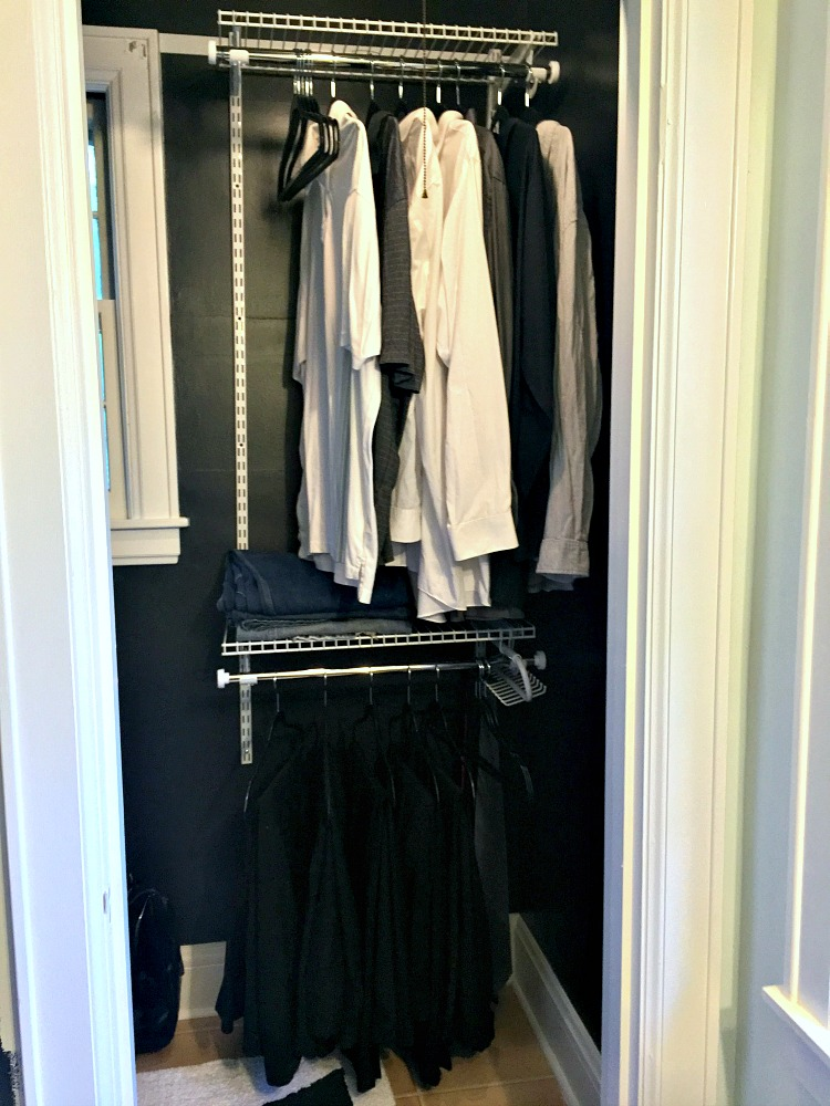 Rubbermaid His hers closet
